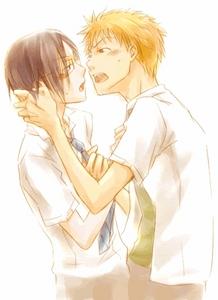 Ichigo & Uryuu I love them together!! <33
