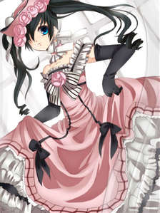In this pic Ciel Phantomhive looks like a girl