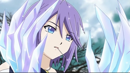 to me i think it should be Mizore Shiryuki from Rosario + Vampire just because she has the power over snow/ice and that in itself is badass