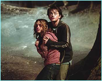 """What are bạn doing?"" asked Harry in a whisper ""Saving your life!"" exclaimed Hermione"