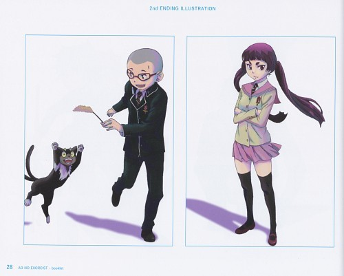 Konekomaru & Izumo - Blue Exorcist, both amor gatos altho Izumo hides that fact in front of others! :)