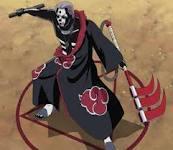 hidan with a three bladed scythe.