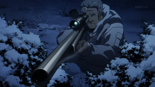 This is Lehm - Jormungand holding a sniper rifle, my favorito weapon!