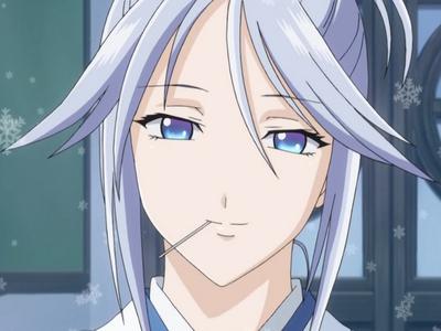 mizore's mom kinda has blue hair...i think XD