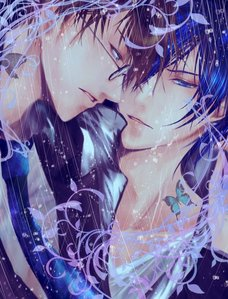 I'm surprised no one has telah diposkan Kaito yet ._. He's definitely got blue hair. I wanted to find a pic like this of Kaito sejak himself but I couldn't find one that was just as awesome on zerochan.net (<--- freaking AMAZING site for AMAZING looking pics) so Hiyama is with him x3 Take it how anda want