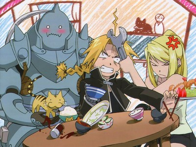 Winry's pissed at Ed for something ._.