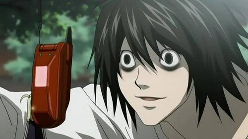 A screencap of L from Death Note. :3