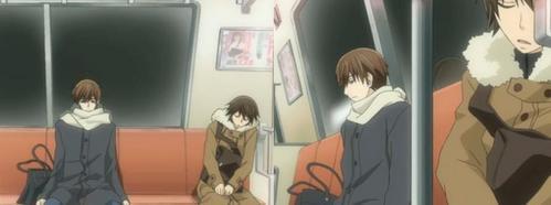Misaki from Junjou Romantica makes an appearance in Sekai Ichi Hatsukoi. >u<
