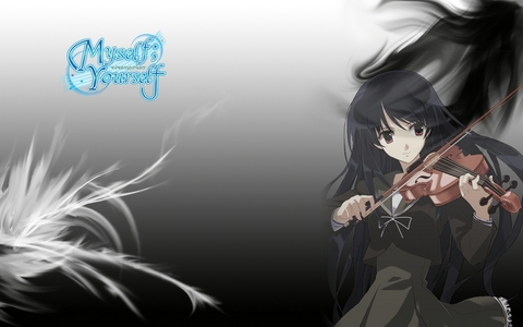 This one is a comedy, slice of life, drama anime..Myself; Yourself it's main theme is not the violin but the protagonist plays the violin and had lessons since she was a child..but the series main focus isn't that..if tu want tu can check it out :)