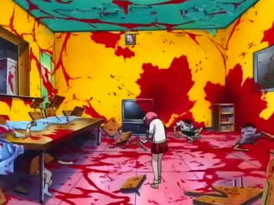 Elfen Lied! This is just a small scene from it!