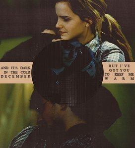 I'd LOVE to have them together, because that would kinda be like having Harry and Hermione together. However they are different from their characters in many ways also. And it's what they want.