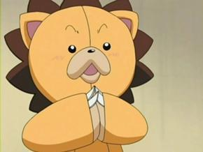 Kon from Bleach. Although that's not really his own body, but he's still short :P 27cm as a plushy