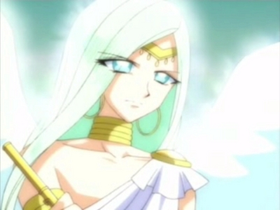 Mikeru from Mermaid Melody. Yes, it's a boy, and he has really light shade of green hair.