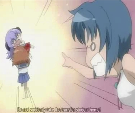 This one is from Higurashi no naku koro ni where rena tries to take Home Hanyuu..It's one of my personal favourites