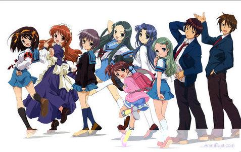 Me and Suzumiya. (*World Explodes*)