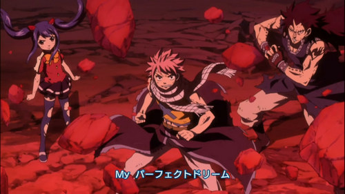Opening 7 from Fairy Tail The Rock City Boy from Jamil I was going to put Opening 6 but this scene is one of my favorites