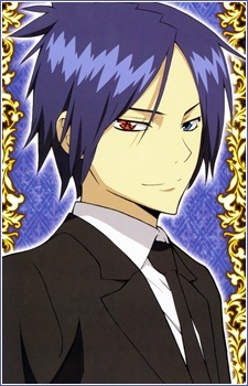 Mukuro Rokudo from KHR has dark purple hair