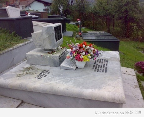 Here. A computer grave.