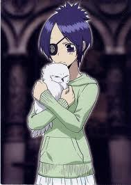 Mukuro's hair is blue, Chrome's is purple