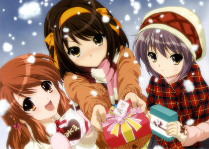 Haruhi-chan is blushing!! X3 I also have another picture of shouko from baka to test shoukanjuu! http://cdn.myanimelist.net/images/characters/13/96539.jpg