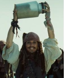 Mine is Jack Sparrow as well! Thats the one I always think of first when I hear his name at least! :)