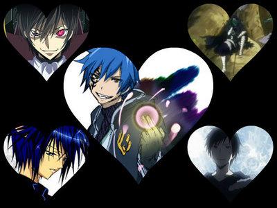 1. Jellal (Fairy Tail) 2. Lelouch (Code Geass) 3. Izaya (Durarara!!) 4. Ikuto (Shugo Chara) 5. Mystogan (Fairy Tail)