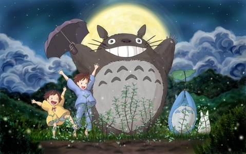 Totoro from My Neighbour Totoro (one in the middle)