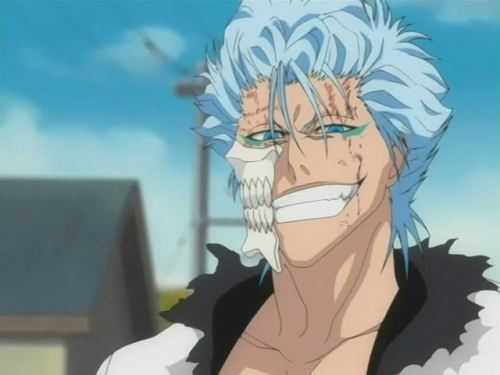 Grimmjow - Bleach I l'amour this shade of blue, i think his eyes are a cool color too :)