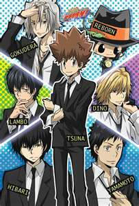 The Vongola Famiglia & Dino from KHR!<3