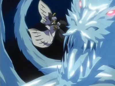 Hyourinmaru it's ice (which i'm weak for), it's beautiful, it's awesome, it's cool, it's powerful & it's Hitsugaya's zanpakuto. there is not a thing wrong about Hyourinmaru.