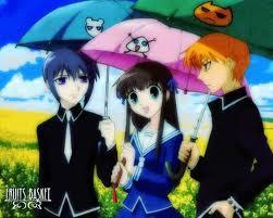 Yuki has purple hair and Kyo has orange. Kyo = Mine!!