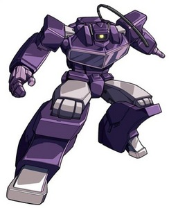 SHOCKWAVE! He's actually only a minor character in The transformers cartoon (he has a lebih prominent role in the comics, where *SPOILERS* he usurps Megatron's position as the Decepticon leader), but that doesn't mean he's not an awesome and badass character.