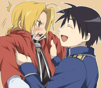 Edward Elric and Roy mustang from Fullmetal Alchemist. <3 :3