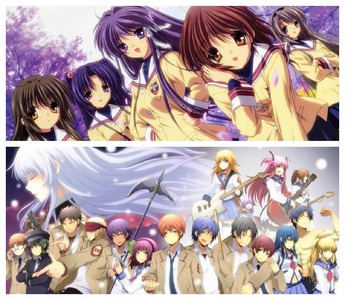 I can easily say Clannad-Clannad After Story and 앤젤 Beats! Clannad has such a touching and sad plot/story, which brings me to tears every time I watch it..It represents kind characters who always go through such difficult situations especially Okazaki, wow ..he went through a lot in the After story part... Then 앤젤 Beats! was so sad and touching the last episodes, especially the one with Yui and the last one with Otonashi and Kanade...I cried my eyes out..I totally needed a box of tissues ...