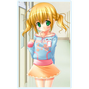 can someone please post a anime girl with short blonde