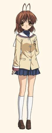 Nagisa and those hairs at the top of her head.