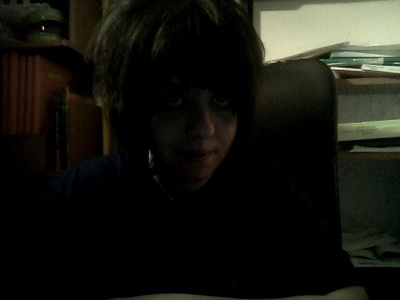I don't know why I am doing this...Her Du go a dark Foto of me looking like a panda due to lack of sleep XP
