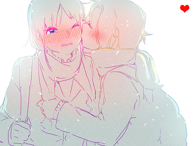 LOL 당신 already know who it is x3 But in case 당신 don't it's Mio and Ritsu from K-ON! <3