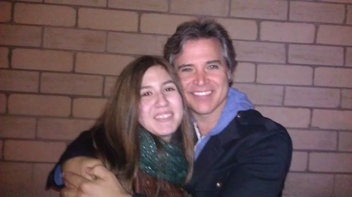 Pic of me with bass player Terry Gowan (Lawrence Gowan's younger brother)! Such a cutie (both brothers are xD)!