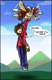 I would fly on a pidgey!