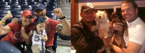 wwe batista And His Family & Jeff Hardy & Matt Hardy With Their anjing (: