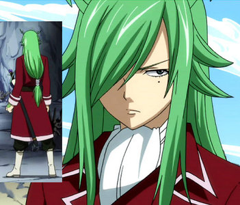 I'm surprised no one said Fried (Freed) from Fairy Tail yet... I mean, look at his hair :o
