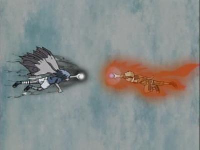 i cant post a video right now,so here's a pic..... fight:naruto vs sasuke scene:2nd state sasuke black chidori vs kyuubi naruto cloak vermillion rasengan.....the fans know who wins.....(*spoiler alert* sasuke won unfortunately and left the village....hence the creation of naruto shippuden....)