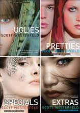 The Uglies the series scott westerfeild 7 action..kinda like the hunger games