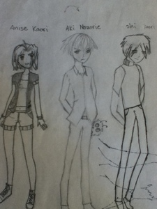 These are sort of like my rough draft and I hadn't even inked them in all the way but here ya go ^-^;