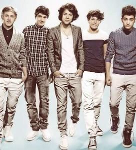 1)Niall 2)Liam 3)Harry 4)Louis 5)Zayn