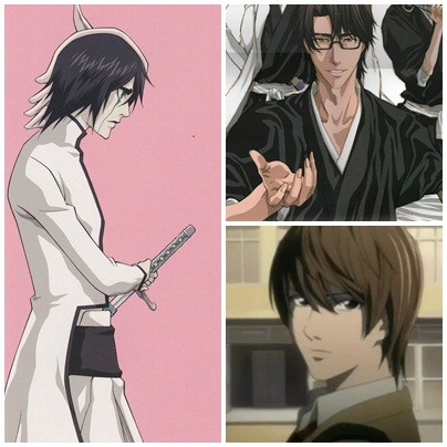 [b]Ulquiorra Cifer, Light Yagami and Sousuke Aizen.[/b] Cold, calculating, extremely powerful, flawlessly brilliant, incredibly intelligent, terribly evil and dangerously handsome! [b]Those are my bad guys![/b]