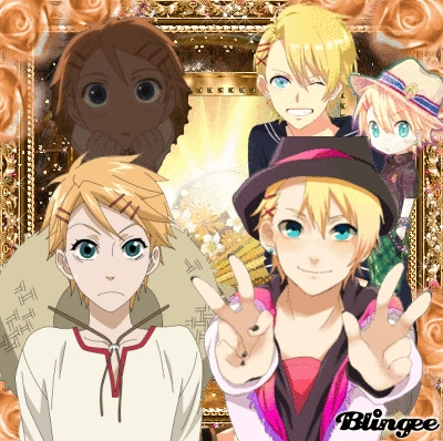 Left is Finnian from Black Butler Right is Shou/Sho from Uta No Prince-Sama