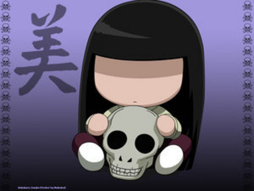 Sunako from The Wallflower! Through the whole series, she was in her chibi form.