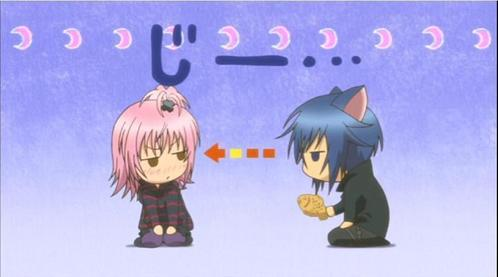 shugo chara seems to have a lot of scenes like that...